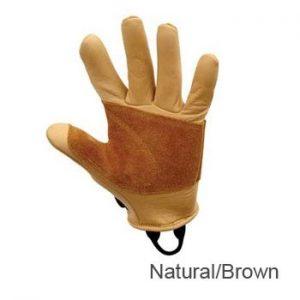 Metolius Full Finger Belay Gloves - Natural / Bro
